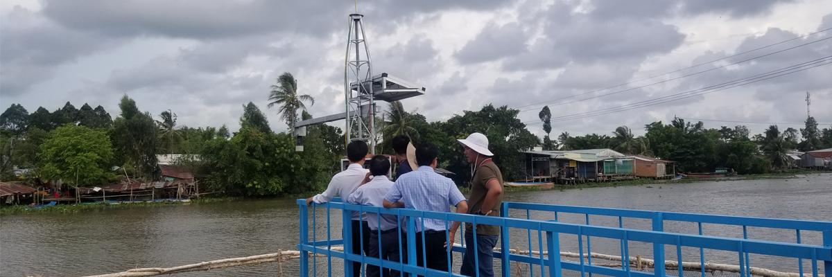 Trạm quan trắc mực nước tự động bằng Radar